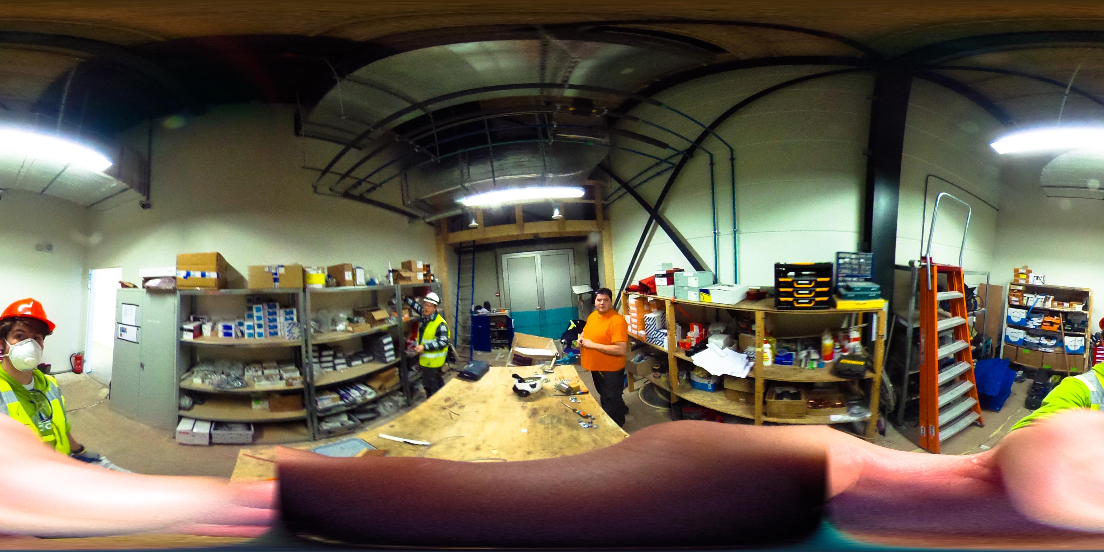 werkplaats electro te swifterbant door jeffrey wakanno 360 graden opname met ricoh theta
